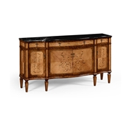 Jonathan Charles Home Satinwood Serpentine Sideboard with Floral Inlay 494655