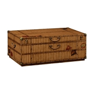 Jonathan Charles Home Travel Trunk Style Coffee Table with Storage 494812