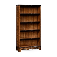 Jonathan Charles Home Tall Argentinian Walnut Open Bookcase 495019