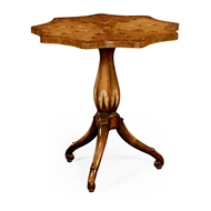 Jonathan Charles Home Finely Inlaid Lamp Table with Nine Sided Top 495074
