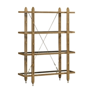 Jonathan Charles Home 4-Tier Oak Architectural Etagere 495164