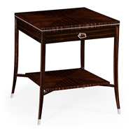 Jonathan Charles Home Macassar Ebony End Table with White Brass Detail 495167