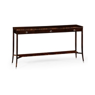 Jonathan Charles Home Macassar Ebony Console Table with White Brass Detail 495174