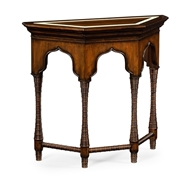 Jonathan Charles Home Rustic Walnut Console with Bones Inlay 495299