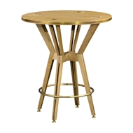 "Jonathan Charles Home 36"" Architectural Circular Bar Table 495443-36D-BT"