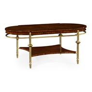 Jonathan Charles Home Oval Coffee Table with Brass Base 495560