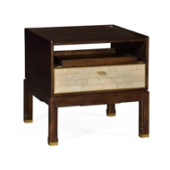 Jonathan Charles Home Small Lymed Mink Bedside Table with Tray 495590