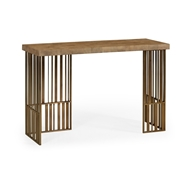 Jonathan Charles Home Rectangular Timberwolf Eggshell Console Table 495677