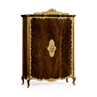 Jonathan Charles Home Mahogany & Gilded Carved Armoire 495810