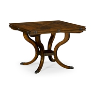 "Jonathan Charles Home 42"" Square Brown Mahogany Extending Dining Table 495821-42L"