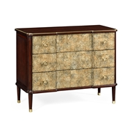 Jonathan Charles Home Chest of Drawers with Eggshell Inlay & Brass Details 495822-EB002