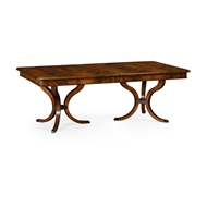 "Jonathan Charles Home 132"" Brown Mahogany Dining Table 495824-132L"