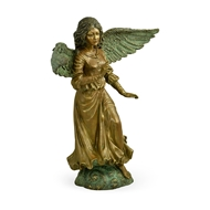 Jonathan Charles Home Antique Light Brown Brass Angel 495834