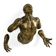 Jonathan Charles Home Anitque Brass Floating Man 495835