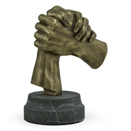 Jonathan Charles Home Antique Brass Gripping Hands 495920