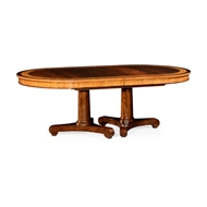 Jonathan Charles Home Mahogany Two Self Storing Leaves Biedermeier Style Dining Table 498001-88L