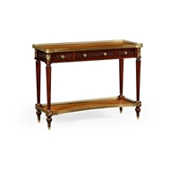 Jonathan Charles Home Napolean III Mahogany And Brass Console 499208