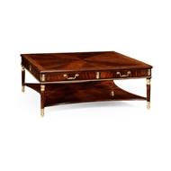 Jonathan Charles Home Mahogany William Iv Style Gilded Square Coffee Table 499229