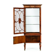 Jonathan Charles Home Left Opening Burl & Mother of Pearl Display Cabinet 499320-LFT