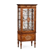 Jonathan Charles Home Right Opening Burl & Mother of Pearl Display Cabinet 499320-RGT