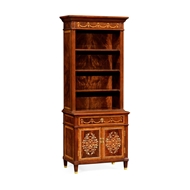 Jonathan Charles Home Tall Mahogany & Mother of Pearl Bookcase on Chest 499495-MAM