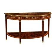 Jonathan Charles Home Large Demilune Console Table with Low Shelf 499518