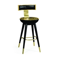 Jonathan Charles Home Swivel Bar Stool with Back Support 500085-BS
