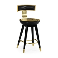 Jonathan Charles Home Swivel Counter Stool with Back Support 500085-CS