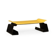 Jonathan Charles Home Asian Peking Yellow & Bronzed Iron Coffee Table 500156