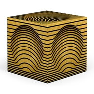 Jonathan Charles Home Op Art Bright Satinwood Cube 500164