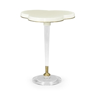 Jonathan Charles Home Trefoil Ivory & Acrylic Wine Table 500168