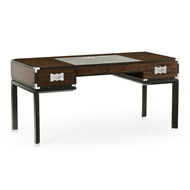 Jonathan Charles Home Campaign Style Dark Santos Rosewood Desk