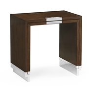 Jonathan Charles Home Campaign Style Dark Santos Rosewood Sliding Nesting Tables 500201
