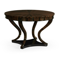 Jonathan Charles Home Round Macassar Ebony Centre Table 500202