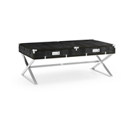 Jonathan Charles Home Campaign Style Coffee Table with Drawers 500205