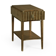 Jonathan Charles Home Rectangular Autumn Walnut Reeded End Table 500213
