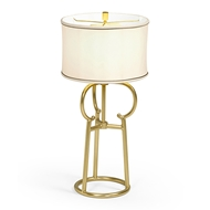 Jonathan Charles Lighting Contemporary Antique Satin Gold Brass Table Lamp 500228