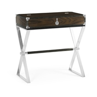 Jonathan Charles Home Campaign Style Dark Santos Rosewood Flip-Top Desk