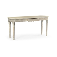 Jonathan Charles Home Amazing Carved Venetian White Oak Console Table 530210