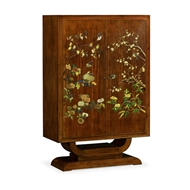 Jonathan Charles Home Art Deco Imperial Mahogany & Handpainted Left Salon Cabinet 540003-LFT