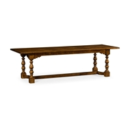 "Jonathan Charles Home 105"" Warm Chestnut Library Dining Table 540058-105L"