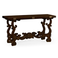"Jonathan Charles Home 60"" Rectangular Spanish Rich Chestnut Hunt Table 540059-60L"