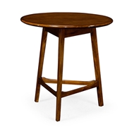Jonathan Charles Home Round Honey Walnut Cricket End Table 540073