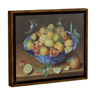 Jonathan Charles Home Still Life with Lemons Painting on A Honey Walnut Frame