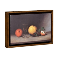 Jonathan Charles Home Still Life with Apples, Sherry, And Tea Cakes Painting on A Honey Walnut Frame