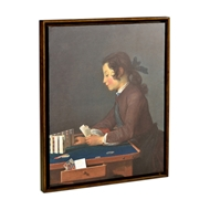 Jonathan Charles Home House of Cards Painting on A Honey Walnut Frame 540081