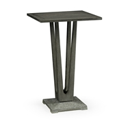 "Jonathan Charles Home 26"" Square Grey Bar Table with A Terrazzo Base 550035-26L-BT"