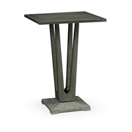 "Jonathan Charles Home 26"" Square Grey Counter Table with A Terrazzo Base 550035-26L-CT"