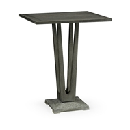 "Jonathan Charles Home 32"" Square Grey Bar Table with A Terrazzo Base 550035-32L-BT"