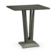 "Jonathan Charles Home 32"" Square Grey Counter Table with A Terrazzo Base 550035-32L-CT"